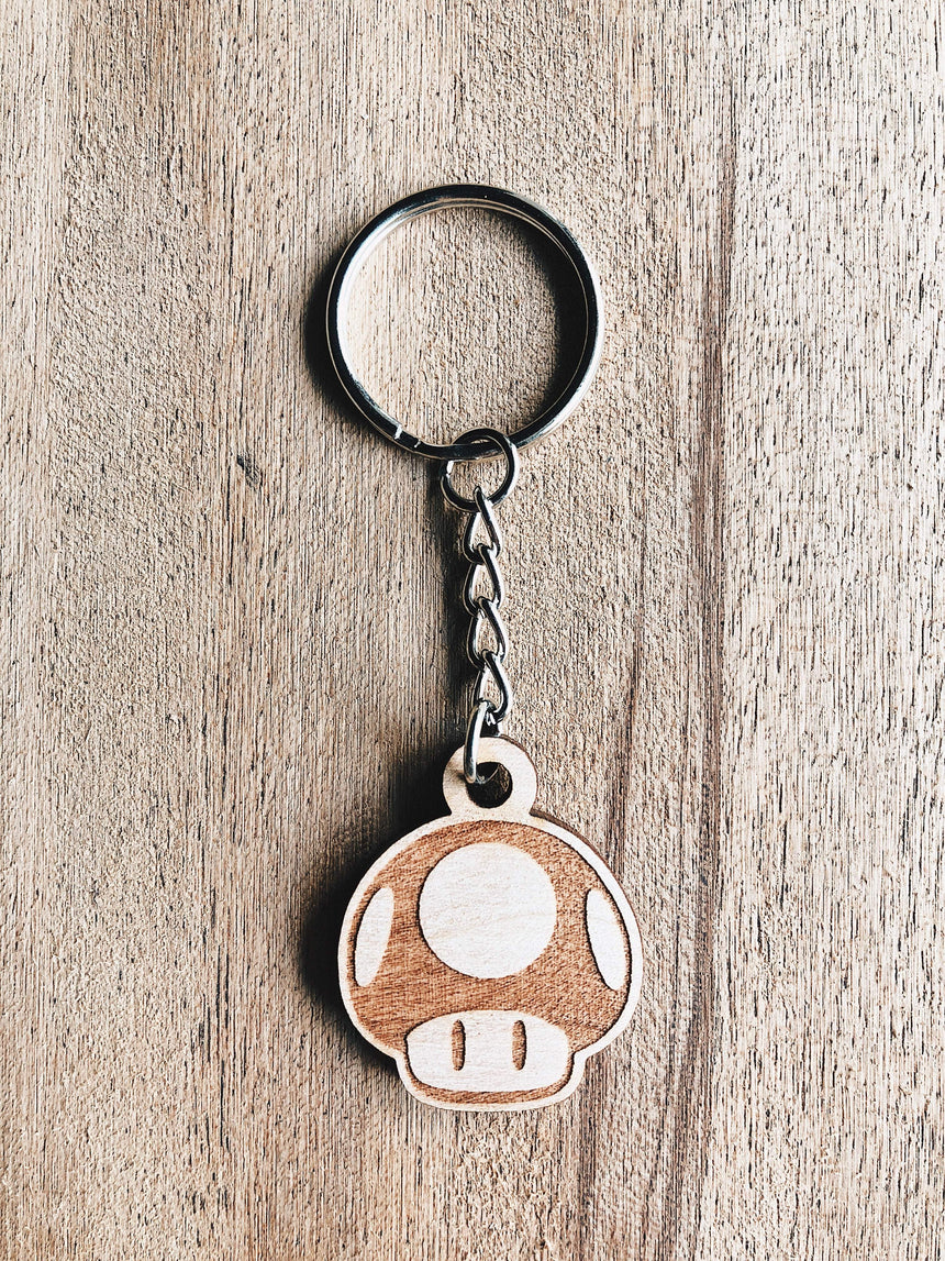 Jake Mize Toad Wooden Keychain