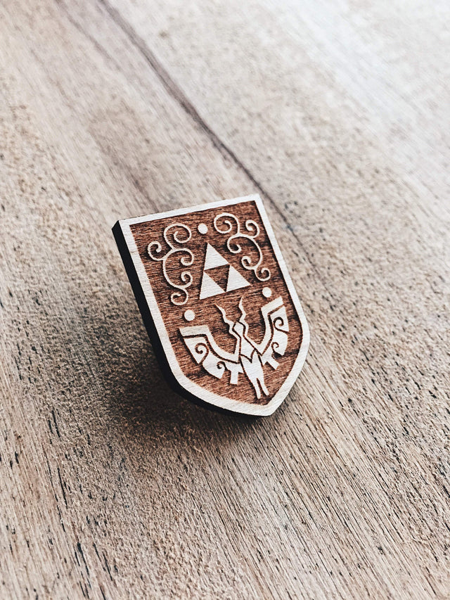 Jake Mize Wind Waker Hero's Shield Wooden Pin