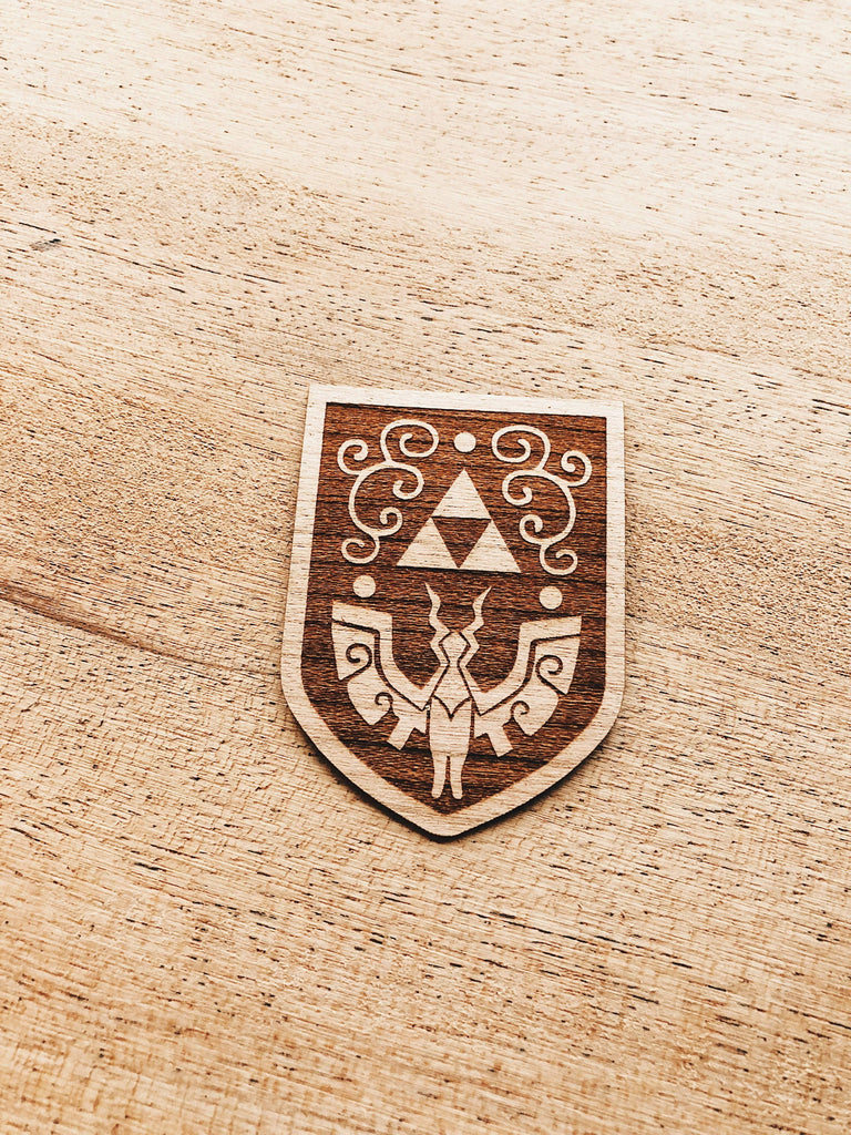 Jake Mize Wind Waker Hero's Shield Wooden Sticker Pack