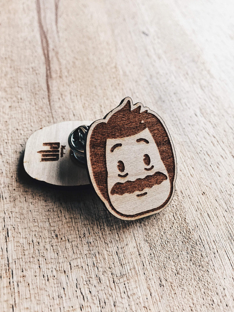 Lain Lee Bob Belcher Wooden Pin