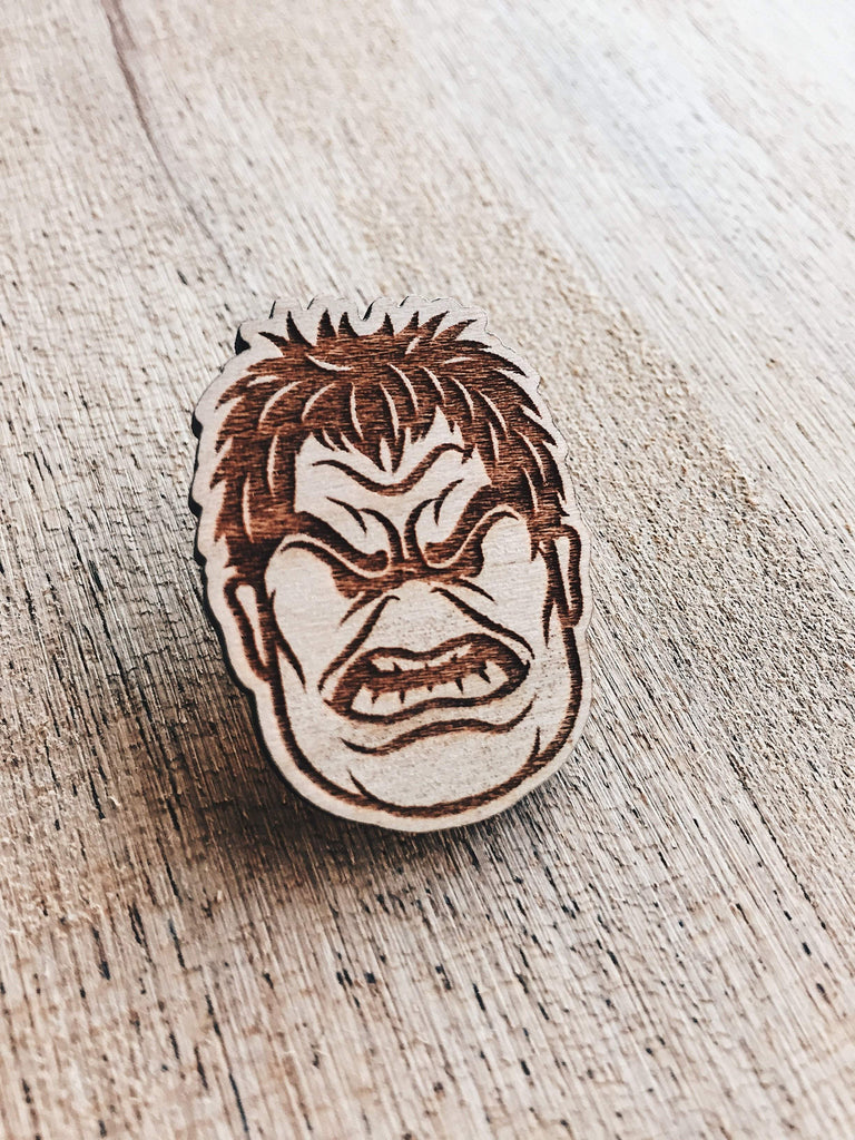 Lain Lee Hulk Wooden Pin