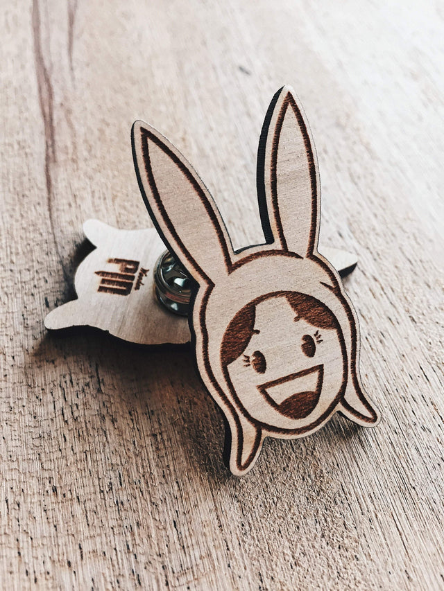 Lain Lee Louise Belcher Wooden Pin