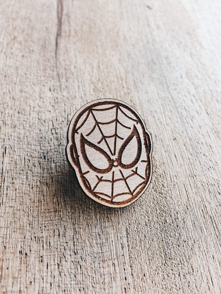 Lain Lee Spiderman Wooden Pin