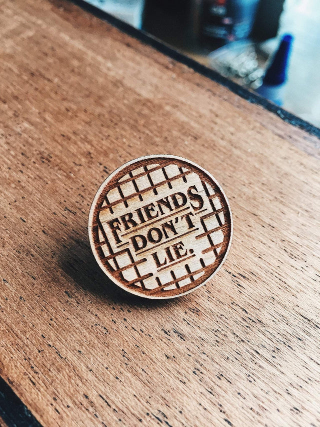 Lain Lee Stranger Things Wooden Pin