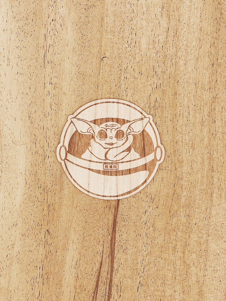 Baby Yoda Wooden Sticker Pack