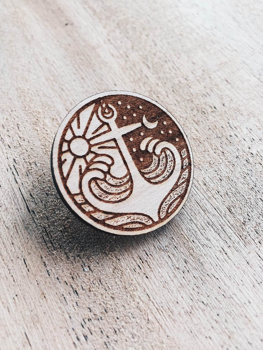 Anchor Deep Wooden Pin
