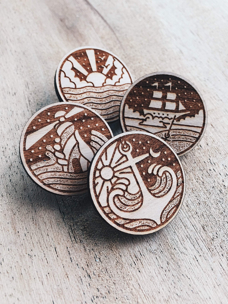Nathan Yoder The Ocean Wooden Pin Set