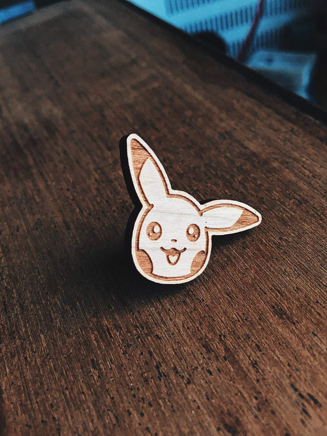 Patrick Ryan Pikachu Pokemon Wooden Pin