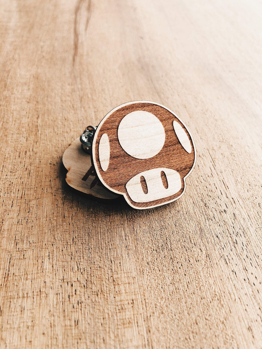 The Wooden Pin Mario Mushroom Wooden Pin