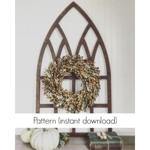 "Pattern for 22"" x 40"" Gothic Window Frame (Instant Download)"