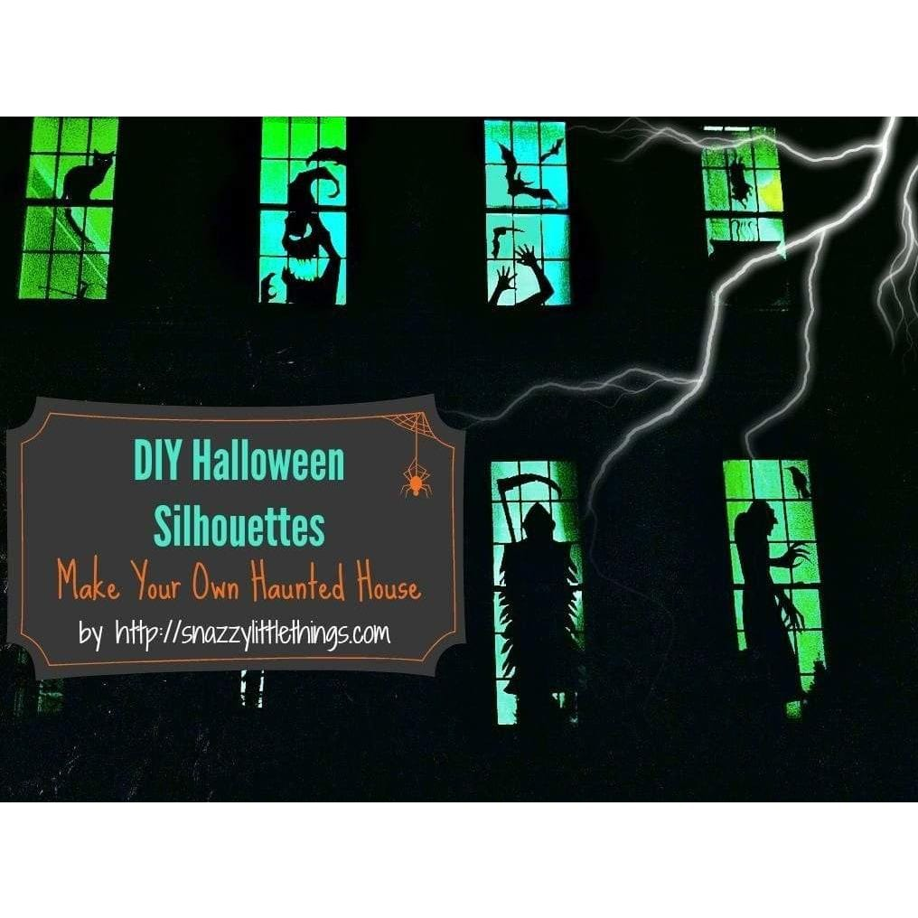 graphic about Printable Halloween Window Silhouettes identified as Halloween Window Silhouettes Absolutely free Obtain