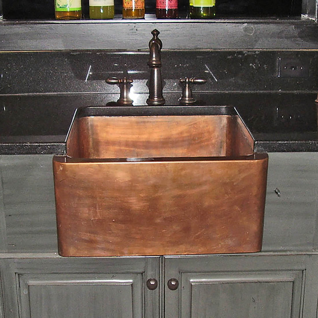 Apron Copper Kitchen Sink - Designing for Small Space