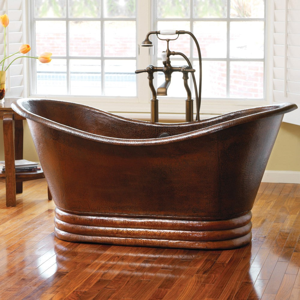 Incroyable Hammered Copper Bathtubs