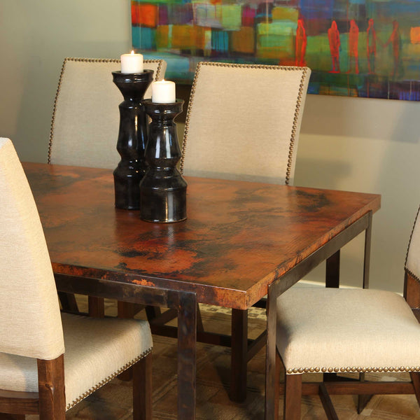 Hammered Copper Dining Room Tables