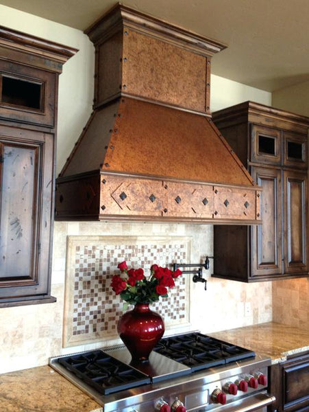Copper Kitchen Hoods for a Wall