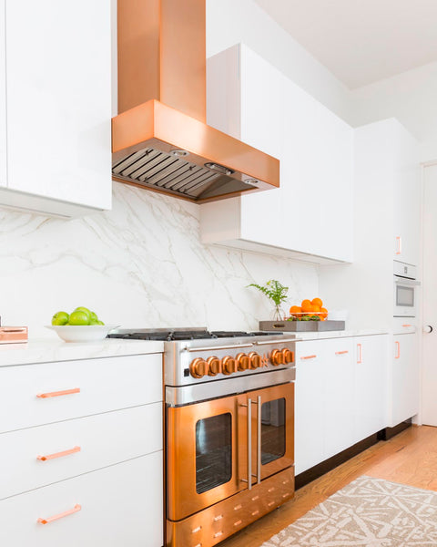 How to choose a copper range hood for your kitchen