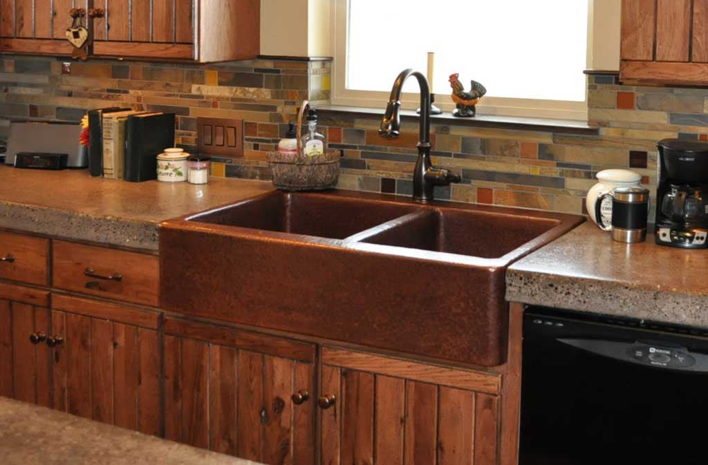 Custom Kitchen Apron Copper Sinks