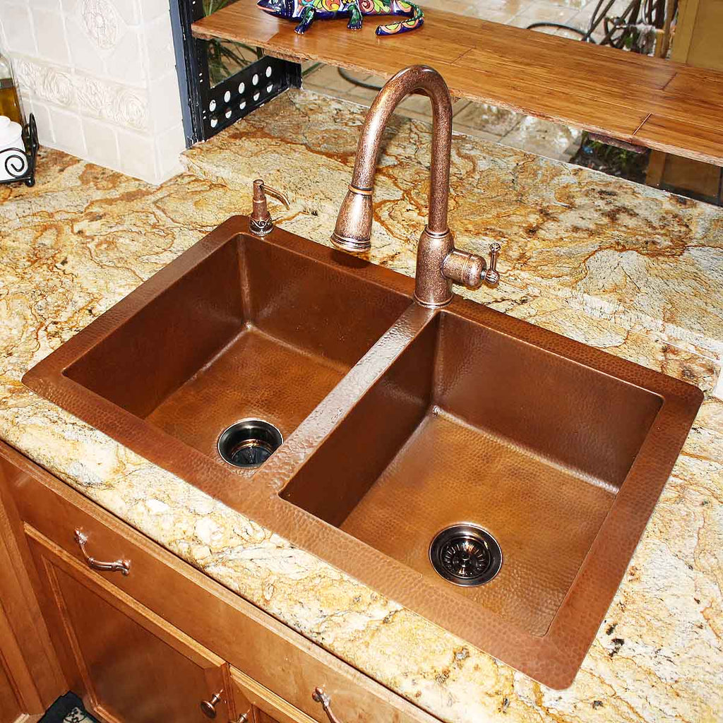Dorp-in Copper Kitchen Sink