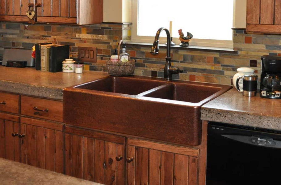 Farmhouse Copper Kitchen Sink