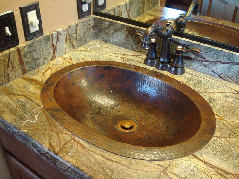 Bathroom Oval Copper Sinks