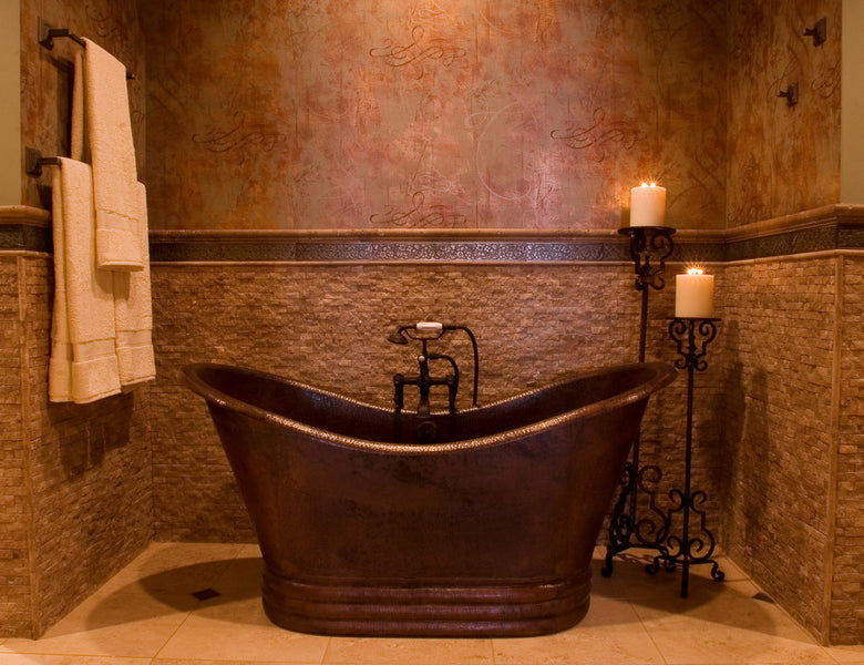 Copper Tub for a Small Bathroom