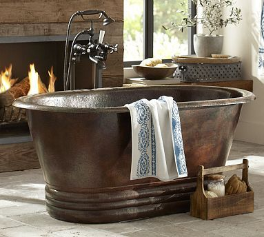old west copper bathtub