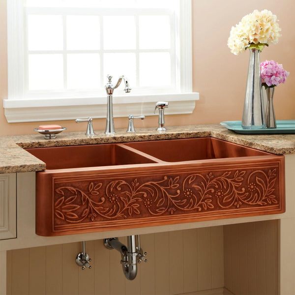 custom copper sinks