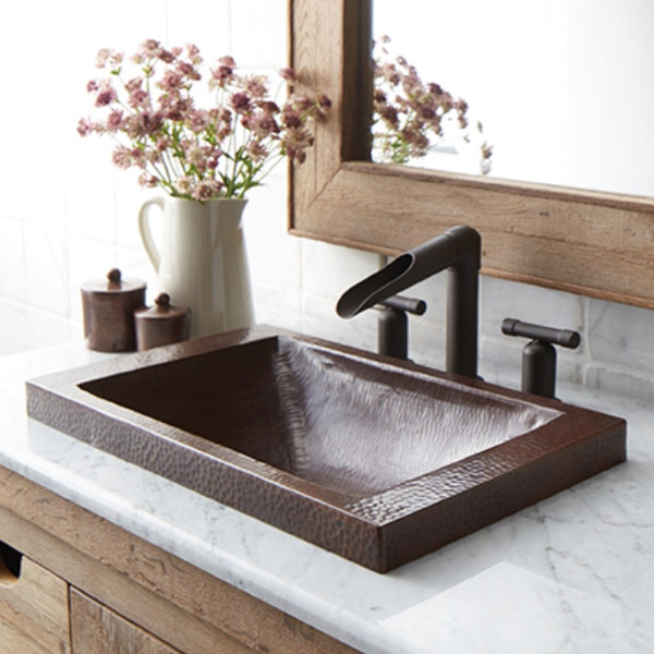 hammered copper bathroom sink from Mexico