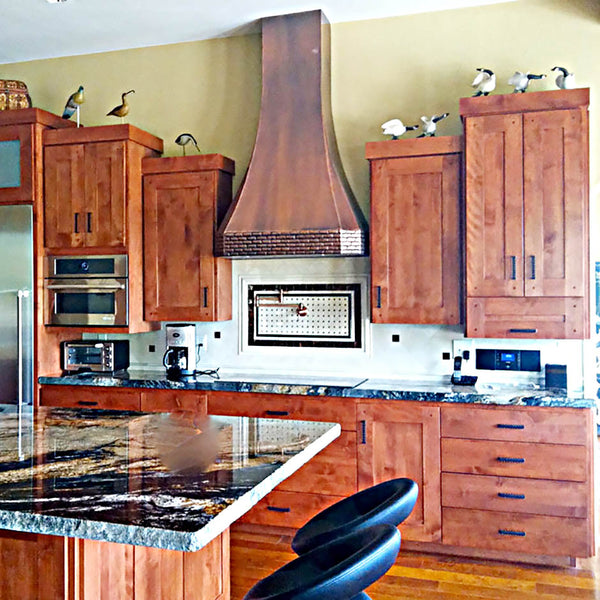 copper kitchen extractor hood