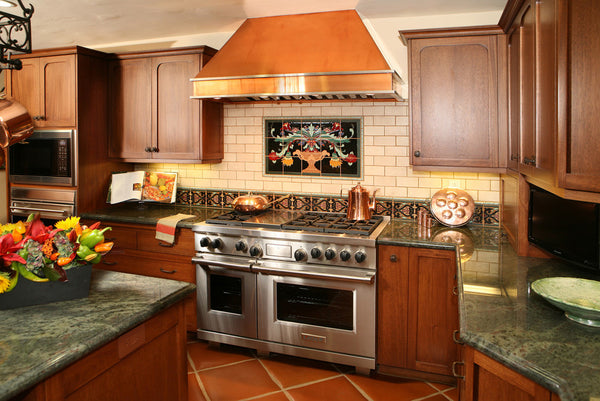 wall copper oven hood