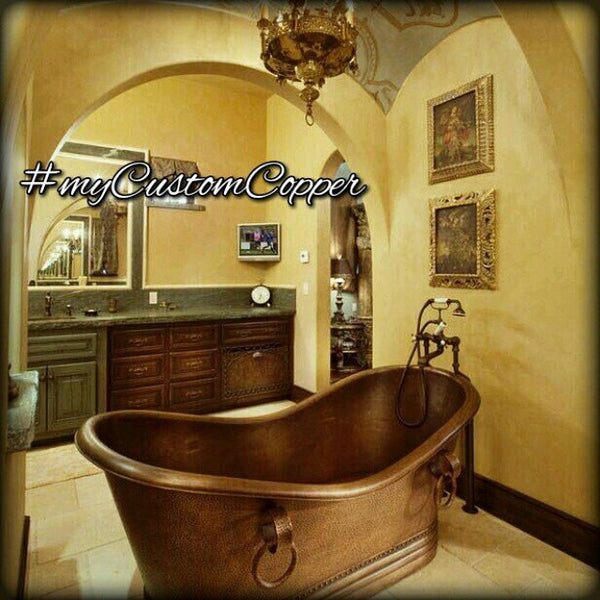 hammered copper bathtubs from Mexico