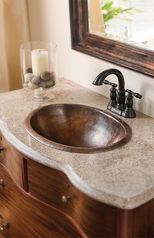 copper sinks for a decorative bathroom