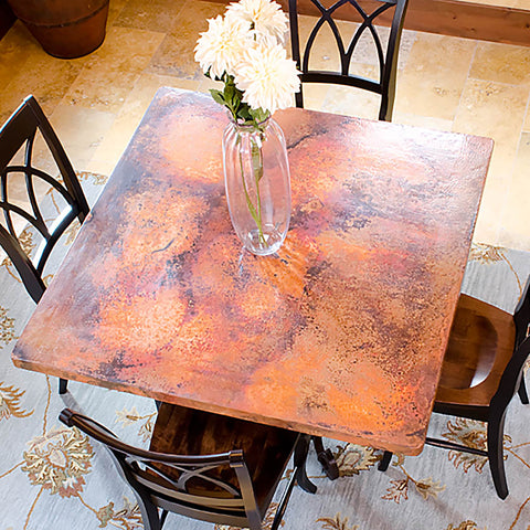 custom copper tabletops
