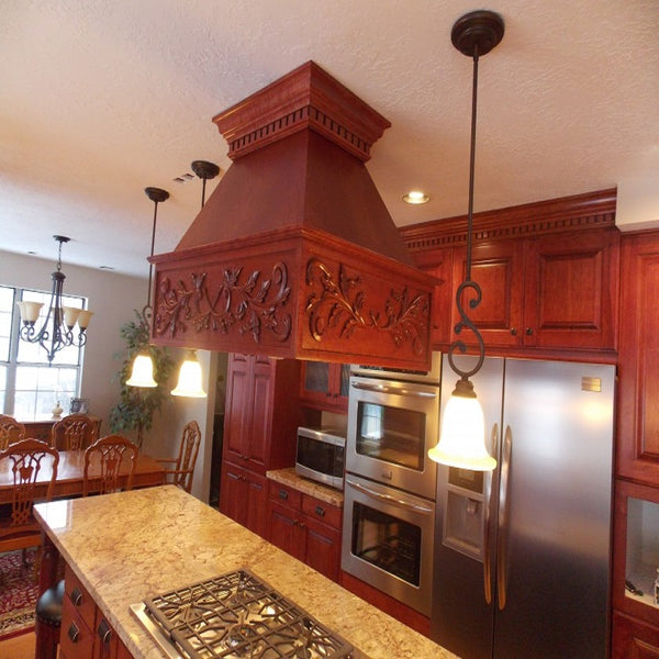 Customized Copper Kitchen Island Range Hood