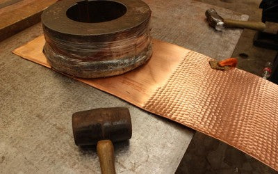 hand-hammered copper products