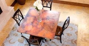 made to order a copper dining table