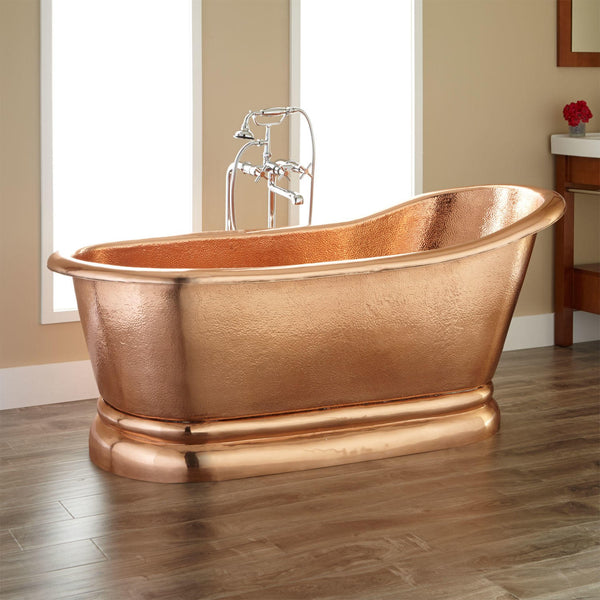 made-to-order copper tub for bathroom