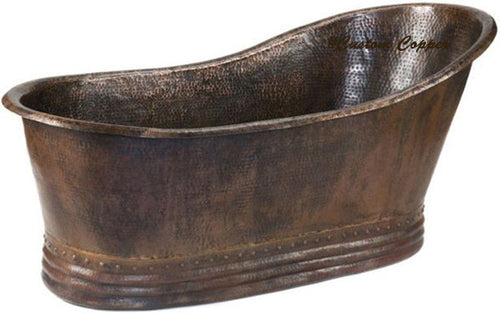 vintage grand slipper copper tub
