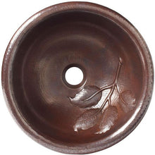 antique round copper bathroom sink