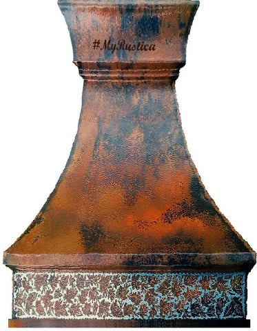made to order farmhouse copper range hood