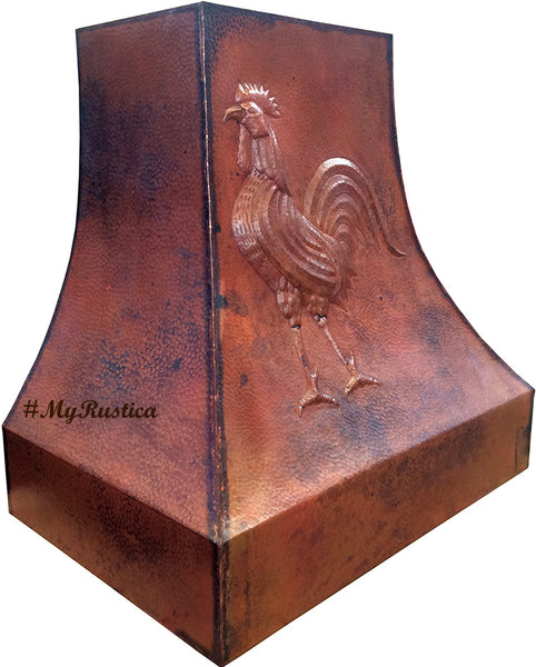 made to order vintage copper stove hood