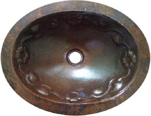 rustic oval copper bathroom sink