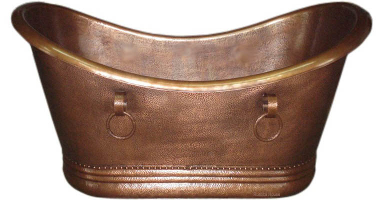 antique grand slipper copper tub
