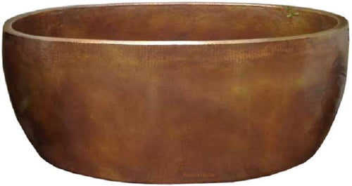 rustic hand crafted copper tub