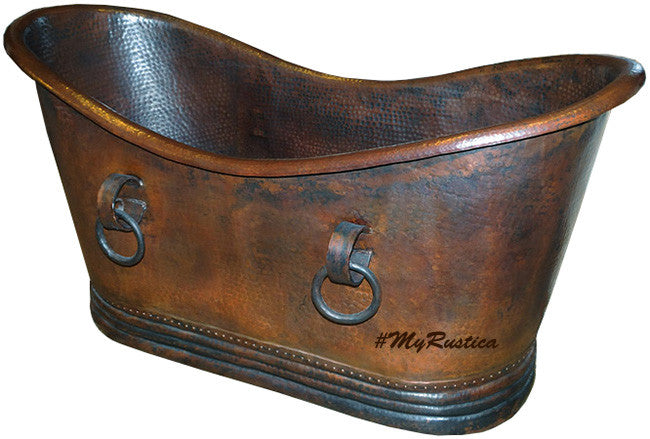 colonial slipper copper tub