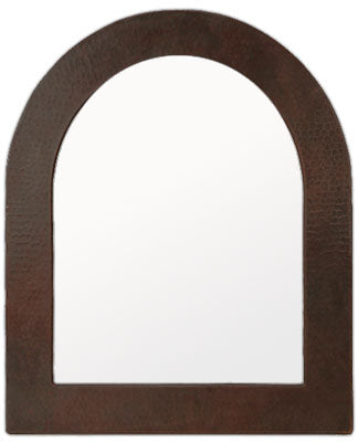 classic arch copper mirror