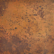 light copper patina detail of a copper kitchen sink with two bowls