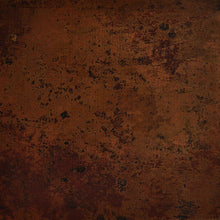 darker patina of copper used for production of a sink with the apron front panel