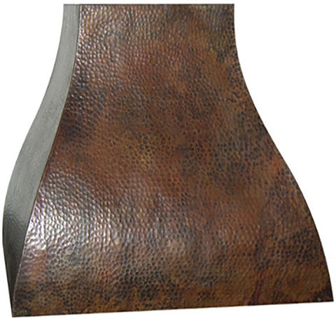 colonial copper oven hood