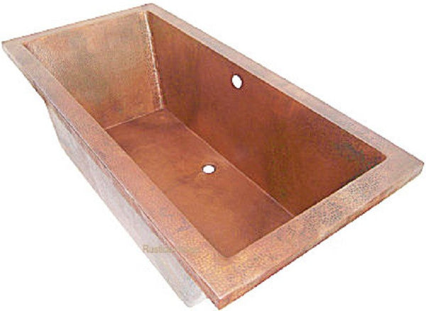 handmade drop-in copper tub